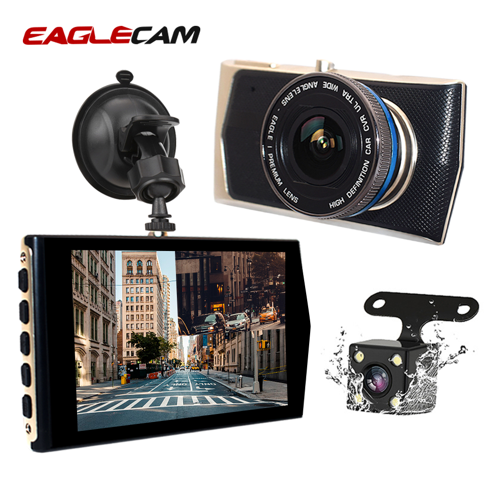 4 IPS Screen Front Rear Dvrs Dash Cam Dual Lens Mini Car DVR Camera HD 1080P