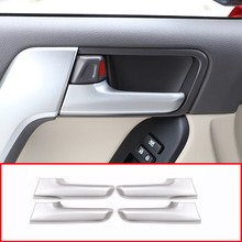 Для Toyota Land Cruiser Prado FJ150 150 2010-2018 автомобильные аксессуары ABS межкомнатных дверей Ручка отделкой 4 шт.