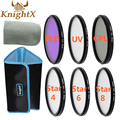 KnightX UV CPL FLD Graduated ND Color Lens Filter set for Canon Nikon Sony d3200 d5200 d3300 d5100 DSLR Camera  52mm 58mm 67mm