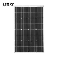 LEORY 80W 12V Solar Panel Solar City Semi flexible Solar Cells DIY Battery System For Camper RV Boat Pump Light Battery Charger