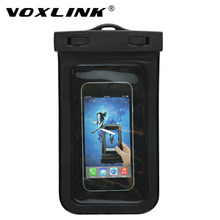 VOXLINK 5.7 Inch Waterproof Pouch mobile phone Bag Hiking Surfing Ski Snow Proof bag with Strap for iPhone 6 6s Plus 7 7 Plus