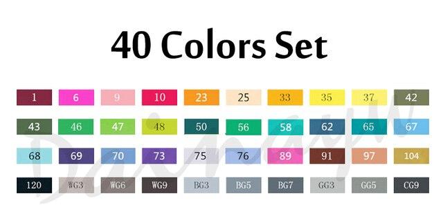 40 colors set