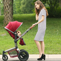 Luxury car baby stroller light weight baby trolley can sit and lie four wheels round baby carriage folding baby stroller car