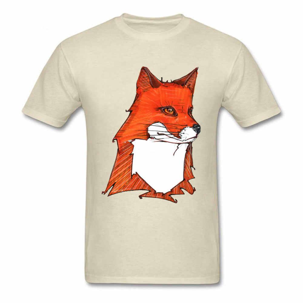 FOX In Hình Nam Cáo Người Yêu Áo Cặp Đôi Tùy Chỉnh Mùa Thu Hè Hoạt Hình Áo Thủy Thủ Đoàn Cổ Áo Tee màu be
