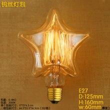 40W 220V E27 estrellas en forma bombilla Edison para lámpara de Bombillas, arquitecto lámpara, lámpara Steampunk, iluminación industrial, luz, lámpara de Edison, lámpara de noche, Bombilla ampollas decorativas
