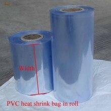 1 kg/lotto 5 6 50 55 cm larghezza PVC termoretraibile avvolgere tubo allingrosso in rotolo trasparente sacchetto di plastica confezione regalo film termoretraibile