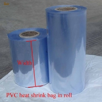 1kg Lot 5 6 7 32cm Width PVC Heat Shrink Wrap Tube Wholesale In Roll Clear