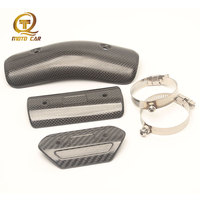 1PC Carbon Fibre Exhaust Motorcycle Muffler Exhaust Heat Shield Protector Heat Shield Cover Guar Middle Link Pipe for Akrapovic