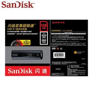 Image 5 - Двойной Флеш накопитель SanDisk SSD USB 3,1 Usb флэш накопитель 128 ГБ Extreme PRO флеш накопитель 256 ГБ флэш памяти Memory Stick CZ880 ключ USB U диск 420 МБ/с. для ПК