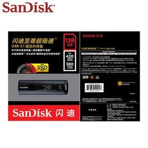 Image 5 - SanDisk SSD USB 3.1 pamięć Usb 128GB ekstremalny profesjonalista Pen Drive 256GB Flash pendrive CZ880 klucz USB U dysku 420mb/s dla PC