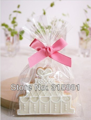 Plain Transpa Cookie Bags Cellophane Wedding Favors Packaging Party Favor Candy Bag 12x25cm 200pcs Lot In Gift Wring Supplies