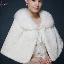 Real Picture White Red Women Wedding Bridal Wrap Shawl Bolero Shrug Jacket Stole Cape Coat Accessories