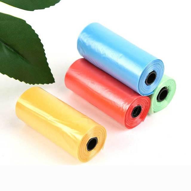 100 roll 1500 Pcs Dog Bag Poop Zero Waste Pets Waste Poop Bag Goods Eco Friendly Degradable Pet Waste Poop Bag Plastic  Basket