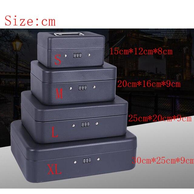ポータブルセキュリティ金庫マネージュエリー収納コレクションボックスofficeのコンパートメントトレイパスワードロックボックスl 4色