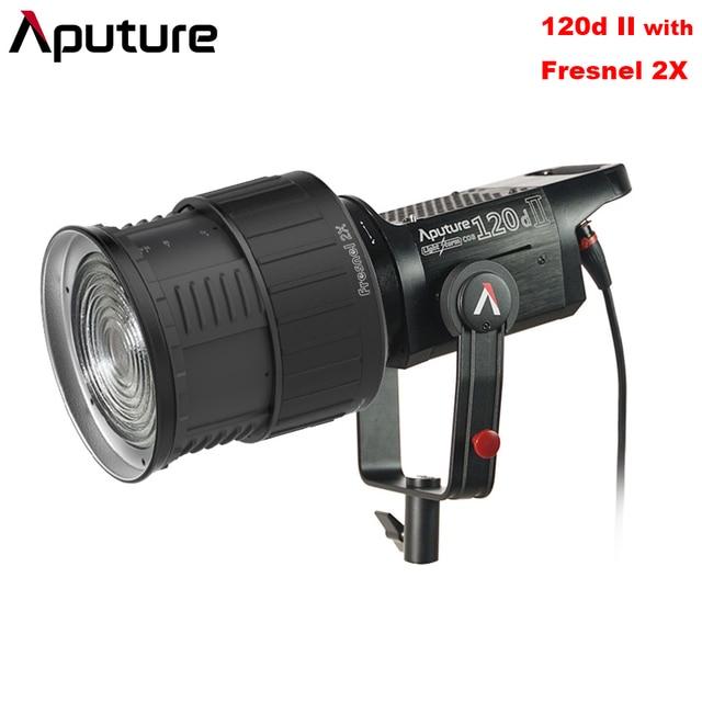 Aputure LS C120d II 120d II + Fresnel Mount DMX Control 5 Lighting Effects TLCI/CRI 96+ 5500k Studio Continuous Lighting V-mount