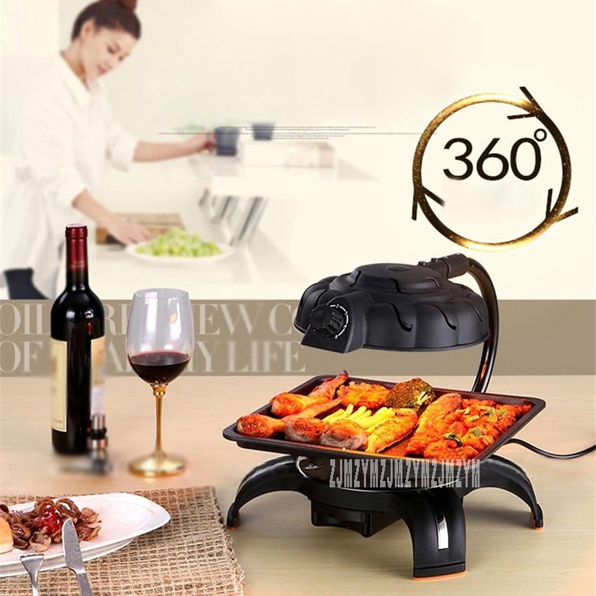 Gril électrique infrarouge domestique Portable sans fumée Barbecue antiadhésif Barbecue intérieur Barbecue Barbecue Pot pour 3-5 personnes 220V 1390W