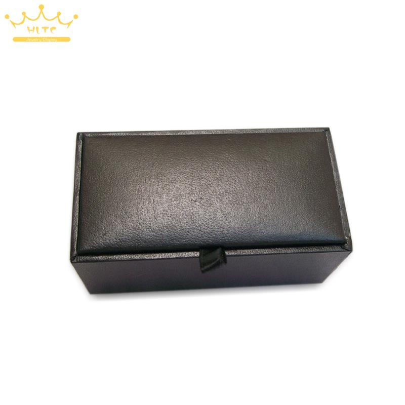 Image 5 - 2015 New! Hot! High Quality Black Faux Leather Small Cufflinks Box 40pcs/lot 8x4x3cm Size Classical Fashion Gift Boxes For Men-in Jewelry Packaging & Display from Jewelry & Accessories