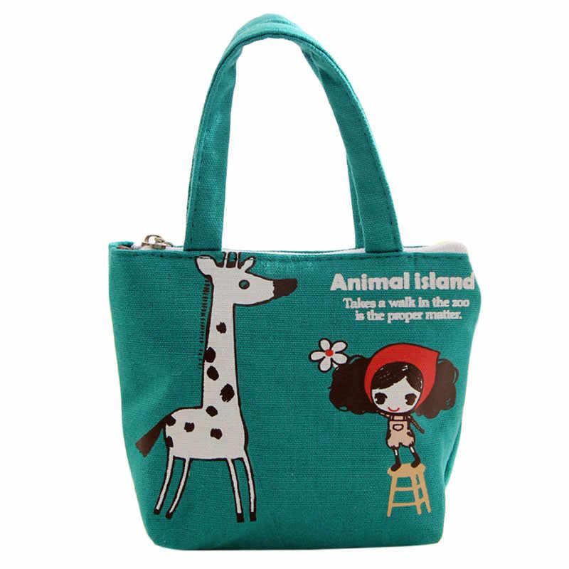 Mulheres Saco Portátil Pacote de Linho Bolsa Totes Shopper Girafa Padrão caixas de armazenamento cobertores # T2 Dropship