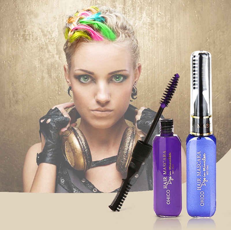 cream hair color pen one time temporary hair dye styling 12 color crayons for hair - Hair Color Pen