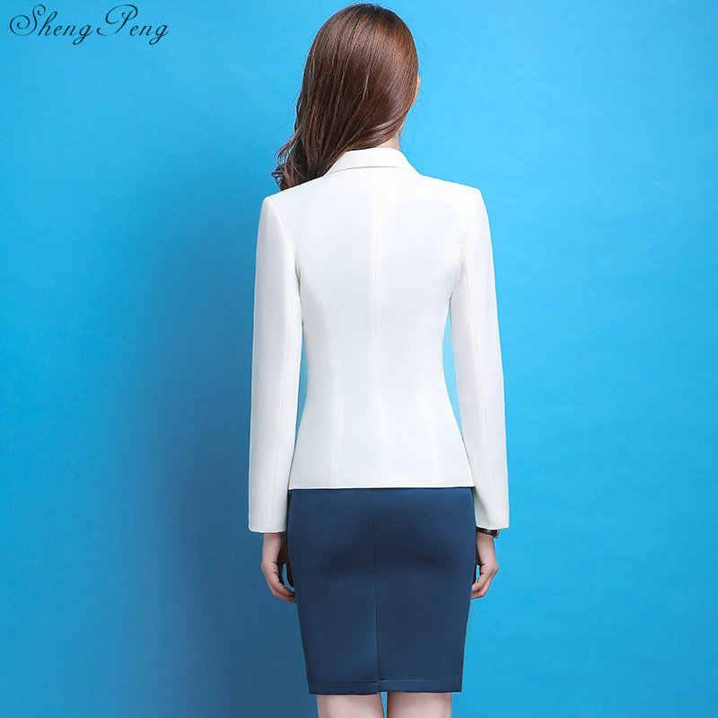 女性ブレザードレススーツ女性オフィス制服のデザインの女性のエレガントなドレススーツ女性ビジネススーツ女性 blaiser CC574