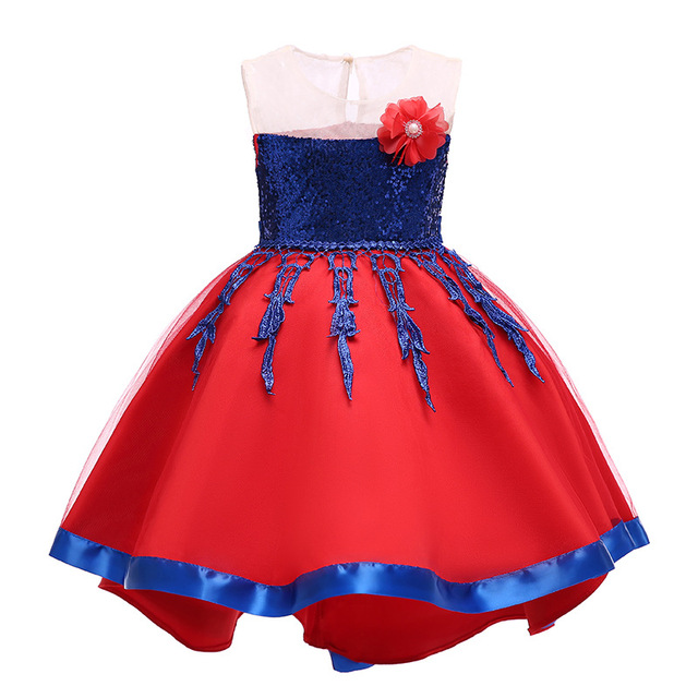 76b56057ec5e Toddler Girls Christmas Dress Flower Girls Wedding Dress Kids Party Dresses  For Girls Clothing Children Sequined Princess Dress