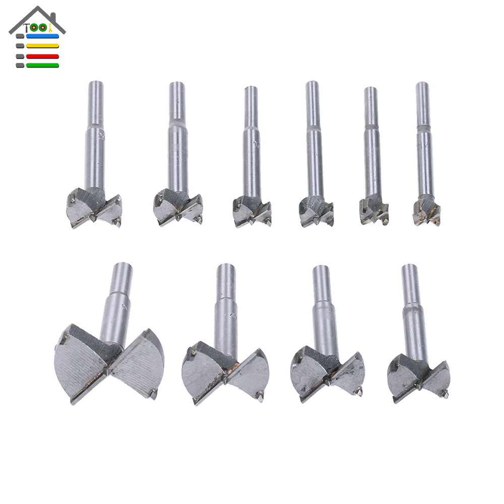 14-50mm Milling Cutters for Wood Forstner Drill Bits Set Woodworking Hinge Wooden Cutter Auger Boring Forstner Bit Hole Saw 7pcs set 12mm 35mm forstner hinge hole boring cutter woodworking drill bits titanium alloy wood drilling titanium coated