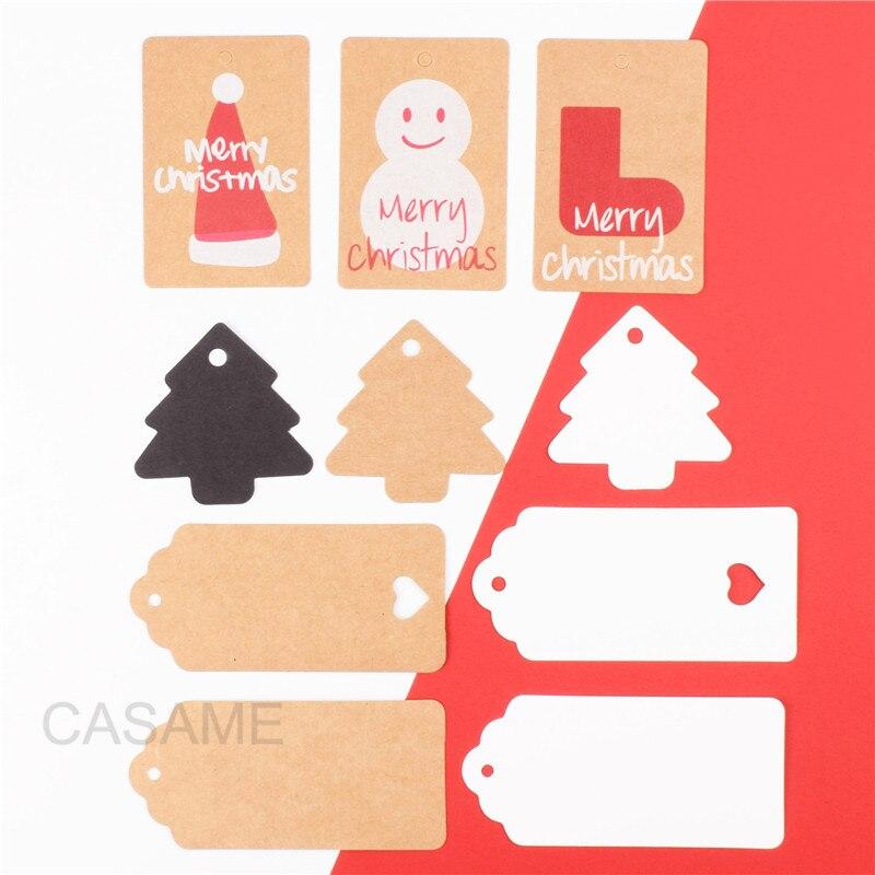 Натуральные коричневые крафт-бумажные бирки с для DIY ремесла ценники багаж имя украшения Подарочная бирка