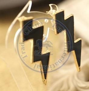 Stud Earrings ear rings Fashion for women Girls lady flashing lightning punk multi color design CN post