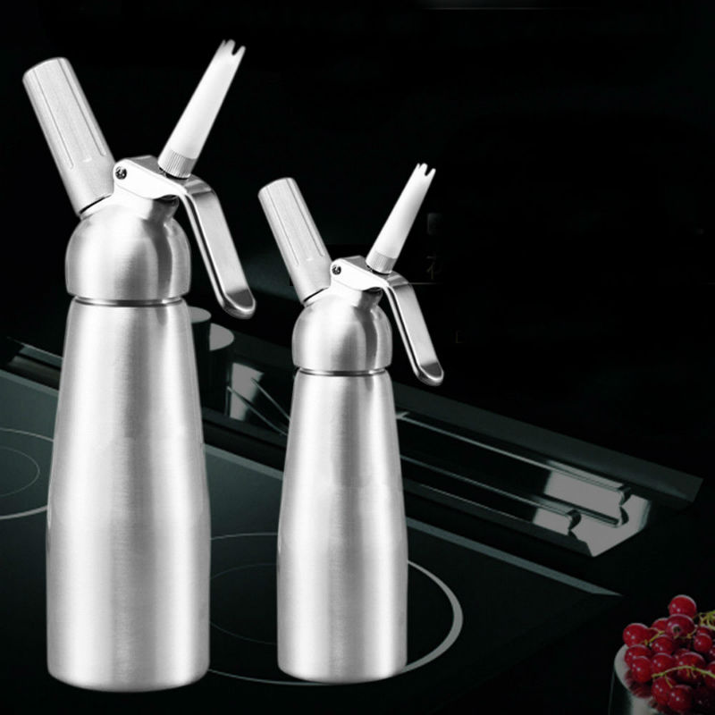 High Quality 500Ml 1000ML Cream Whipper Metal Cream Dispenser With Decorating Nozzles Bar Siphon Dessert Tools
