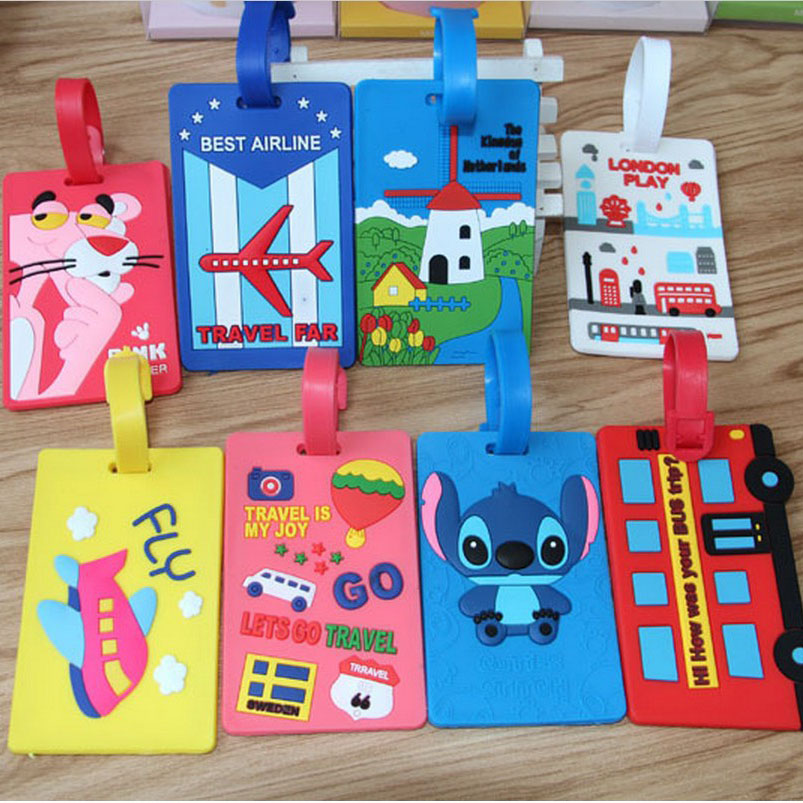 Personality, cartoon silica gel, luggage tags check card, creative boarding pass on lion check up gel