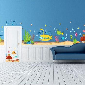 Online Shop Underwater Fish Bubble Wall Stickers Sea Animals - Underwater wall decals