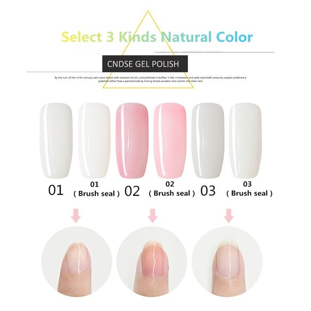 CNDSE 10ml UV&LED Gel Nail Polish Women Natural Color Series Gel ...