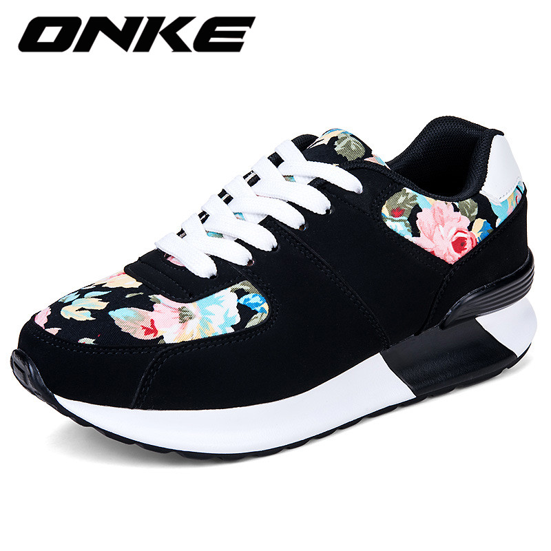 Height Increasing Onke 2017 Women Brand Sports Running Shoes Female Sneakers For Woman Athletic Shoes Lace-up Free Shipping