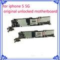 Desbloqueio original de fábrica motherboard para iphone 5 5g 64 gb placa de sistema mainboard placa lógica de função completa instalar ios