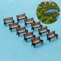 2018 10 sztuk 1:100 ławek ulicznych ławka krzesło Model pociągu platformy układ kanapa HO skala JUL23_17