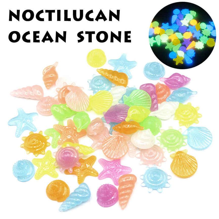 1 שקית של 10 זוהר אבנים קונכייה זוהר אבן אקווריום דגי טנק גינון Dropshipping 2018