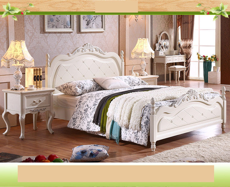 Ivory White Princess Childrens Beds Kids Bedroom Furniture ...