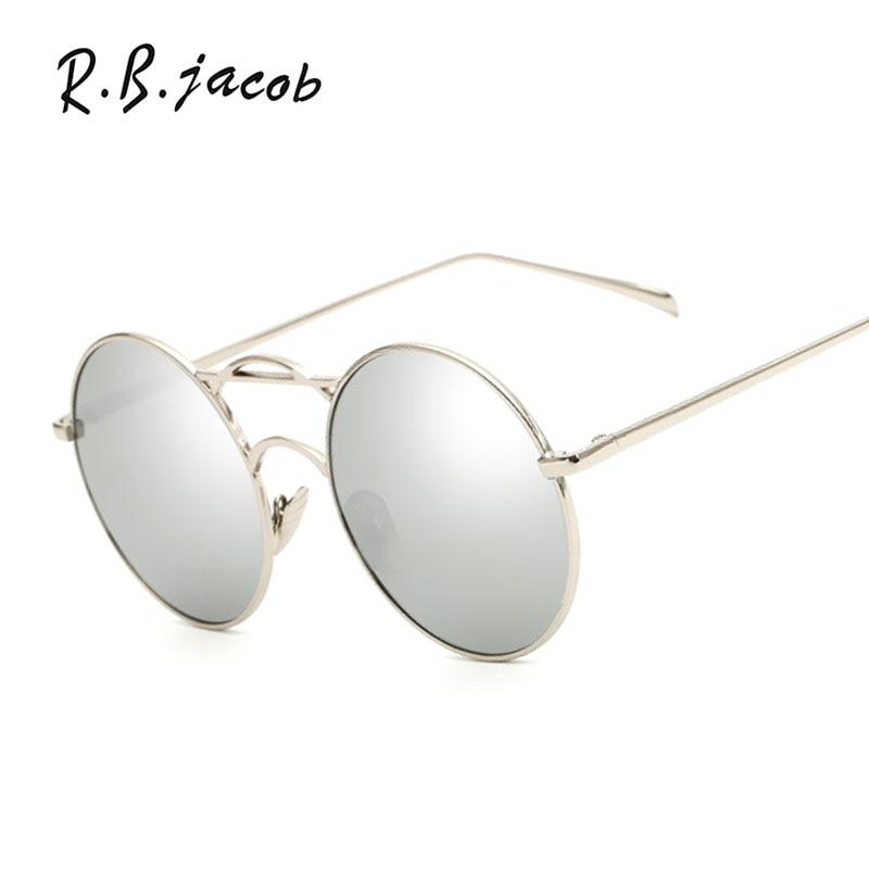 New Round Fashion Unique Sunglasses Mirror Women Men Brand Designer Lady Female Sun glasses UV400 Metal Frame Steampunk Vintage