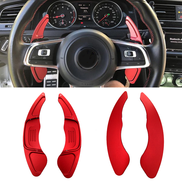 Free Shipping High Quality 2pcs Car  Steering Wheel Shift Paddle Shift For Volkswagen VW GOLF 7 2015  GTI R MK7 Scirocco