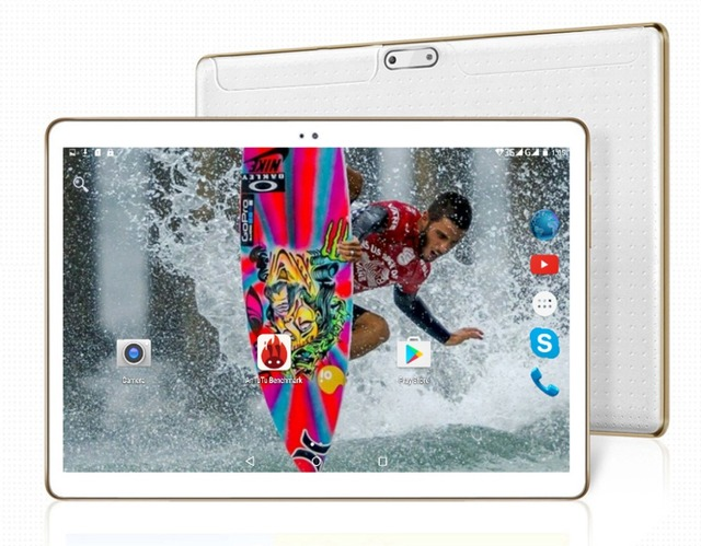 10 10.1 inch Octa Core Android 5.1 Lollipop OS Tablet PC 32GB Nand Flash Bluetooth Phone Call GPS Supported, 1 Year Warranty