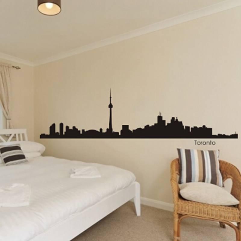 DCTAL Toronto City Decal Landmark Skyline Wall Stickers