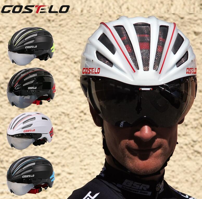 Costelo Cycling Helmet 4 Colors MTB Mountain Road Bike Helmet Bicycle Helmet Casco Speed Airo RS Ciclismo Goggles Bicicleta 2017 topeak sports cycling glasses photochromic sunglasses mtb road bike nxt lens uv400 proof tr90 gafas ciclismo transparent