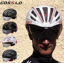 Costelo Cycling Helmet 4 Colors MTB Mountain Road Bike Helmet Bicycle Helmet Casco Speed Airo RS Ciclismo Goggles Bicicleta