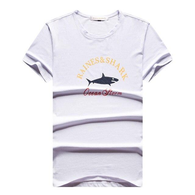 2018 Counter New product Men's Short sleeve Round neck T-shirt SHARK youth Boy Short sleeve Men's European version T-Shirt