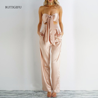RUTIGEFU Hot summer Women's Sets Wrapped chest Tops Sexy nightclub party special suit Loose wide leg pants 2 piece set women XL