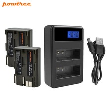 Powtree For Canon 2PCS 7.2V 2800mAh BP-511 BP-511A BP511 BP511A BP 511 Camera Battery + LCD Dual Charger 300D 40D G6