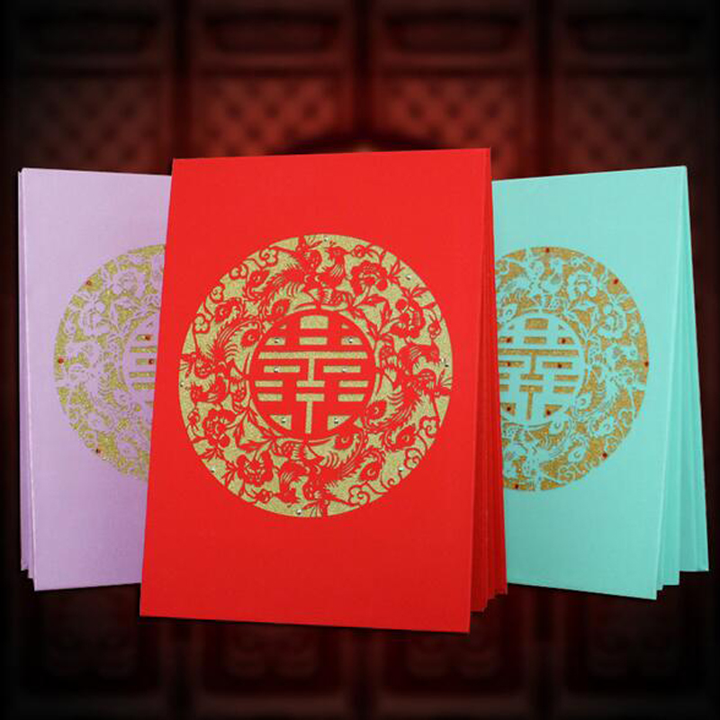 Chinese Hollow Wedding Guest Book Signature Book For Wedding Decoration Reception Souvenirs Gift Marriage Event Party Supplies