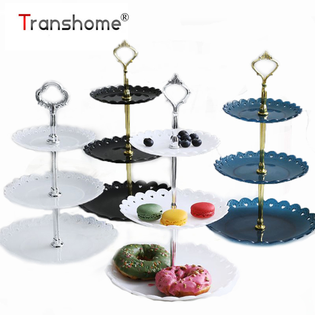 Transhome Cake Stand 3 Layers Wedding Cake Plate Stand Dessert Fruits Vegetable Placed Tool Wedding Birthday Party Cupcake Stand
