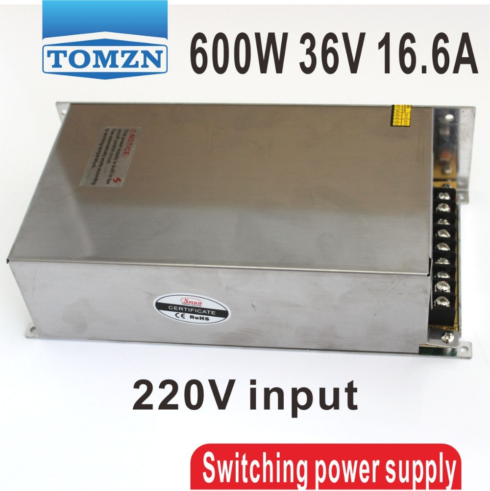 ФОТО 600W 36V 16.6A 220V input Single Output Switching power supply AC to DC