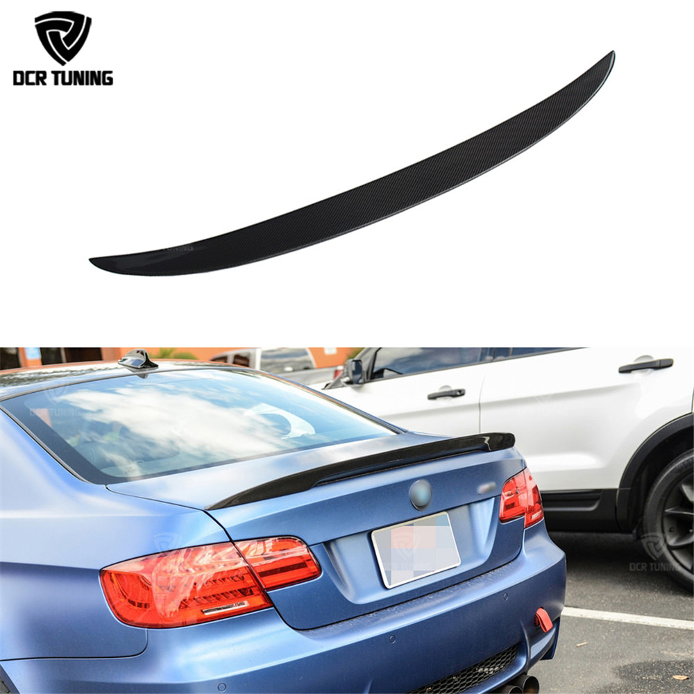 P Style carbon wings For BMW E92 Spoiler 3 Series 2 Door E92 M3 E92 Coupe Carbon Spoiler Performance Style car styling 2005-2012 for bmw e92 carbon fiber spoiler p style 3 series e92